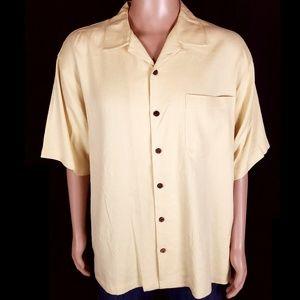 Tommy Bahama Men Button Shirts 100% Silk Size L